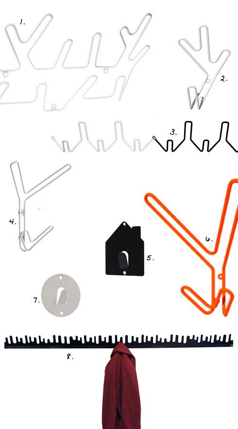 åtta hängare för hall och sovrum Johanna B
